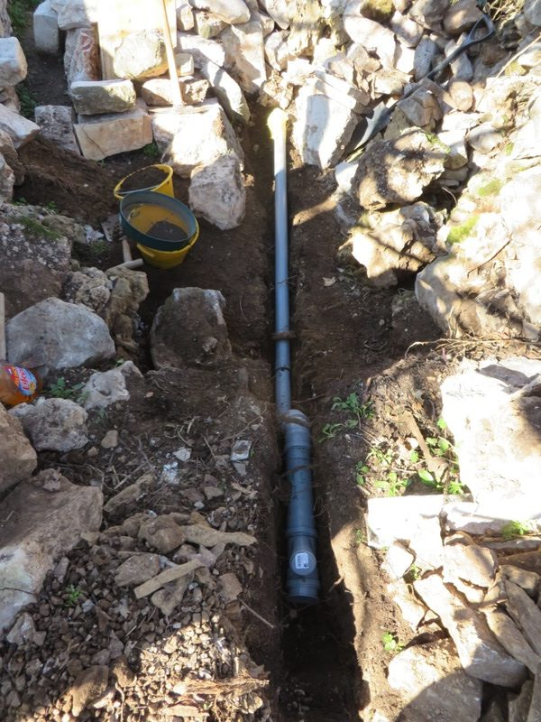Rain water recovery pipe