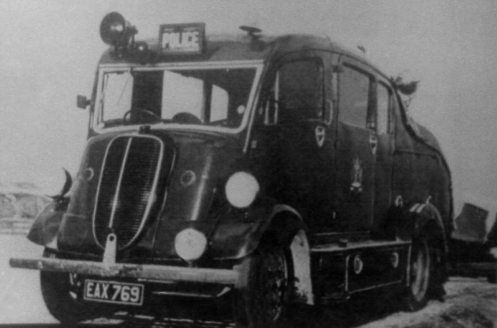 Monmouth Constabulary police rescue vehicle
