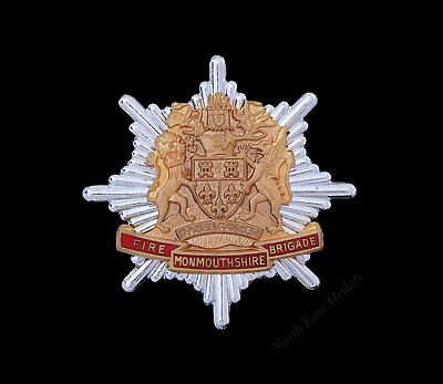 Monmouthshire Fire Brigade cap badge