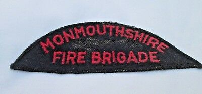 Monmouthshire Fire Brigade cloth shoulder patch