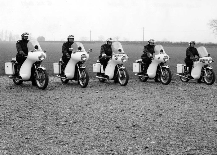 Norfolk Joint Police Motorcycle course - March 1972 Bramerton village hall