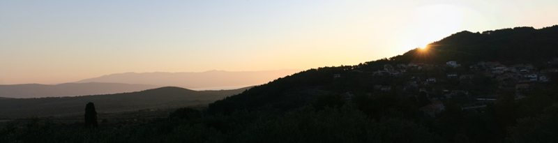 Equinox sunrise panorama