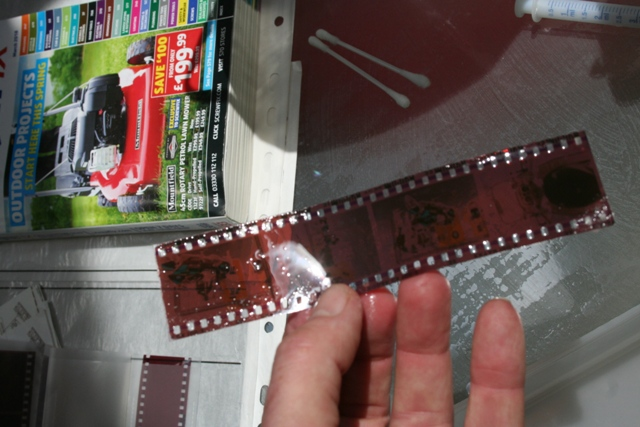 Cleaned film strip