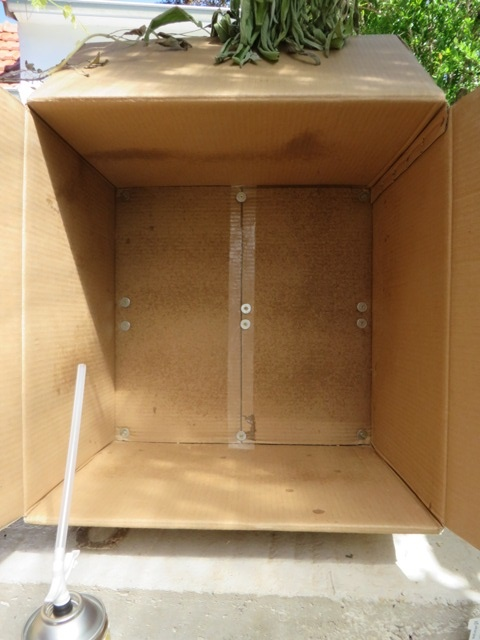 Box securely fixed to the base