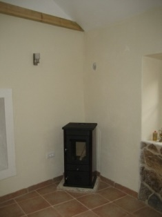 Install the wood stove