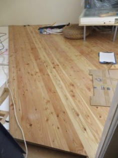 Varnished hardwood floor