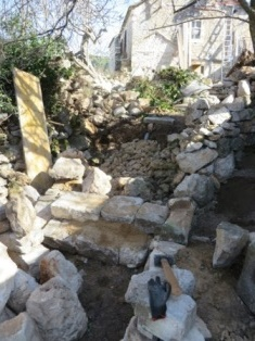 Constructing stone steps