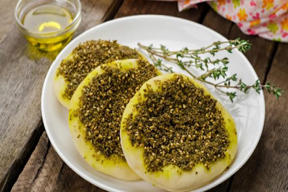 Za-atar on bread