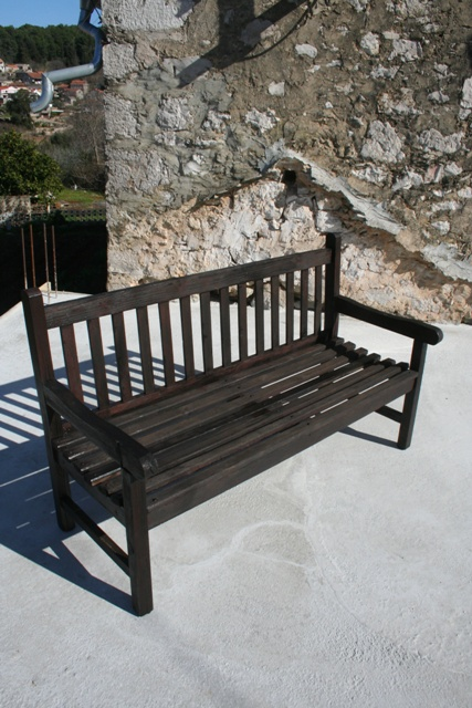 Traditional wooden bench