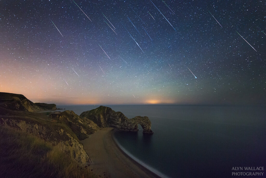 Time lapse meteor shower