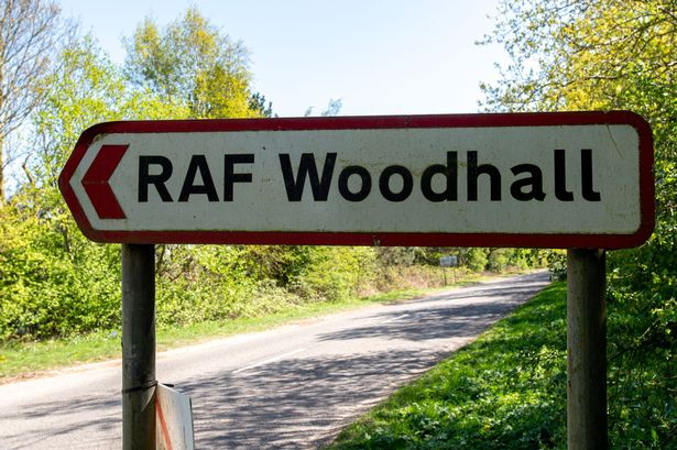 UK Military base sign