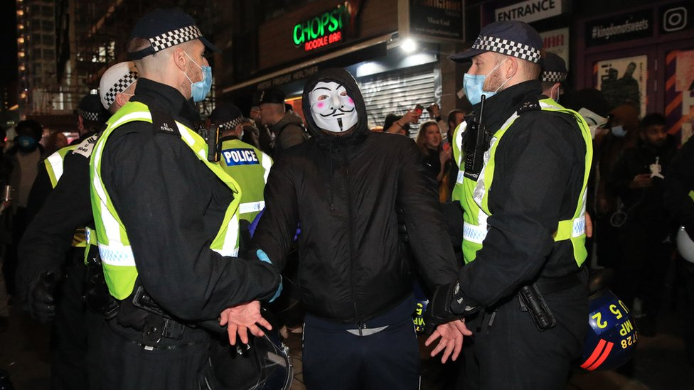 London protest arrest