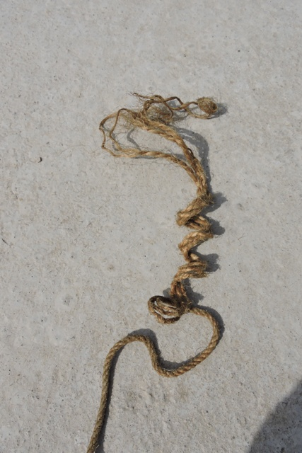Old hemp rope